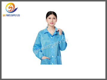 China Heat Resistant SMT Cleanroom Anti Static Products Esd Protective Clothing / Suit supplier