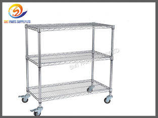 China ESD SMT Reel Storage Trolley Anti Static Products ESD Rolling Industrial Metal Utility Cart supplier