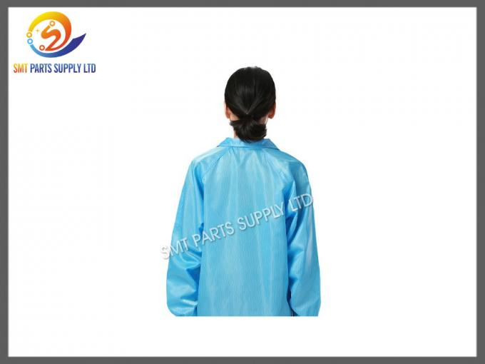 Heat Resistant SMT Cleanroom Anti Static Products Esd Protective Clothing / Suit